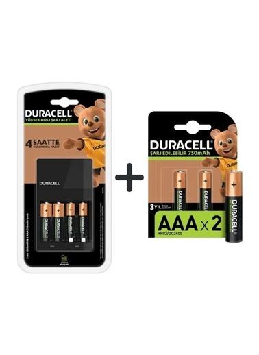 Duracell Duracell Dayanıklı Cef 14 Pil Şarj Aleti + 2'Şer Adet Aa Ve Aaa Şarj Edilebilir 750 Mah Pil Renkli